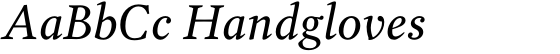 Garvis Pro Italic
