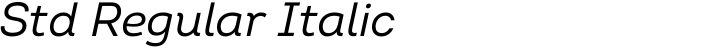 Intro Std Regular Italic