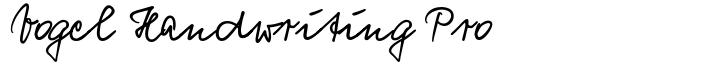 Vogel Handwriting Pro