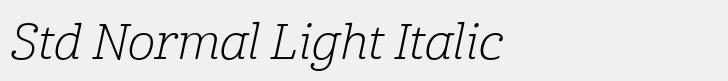 Cabrito Std Normal Light Italic