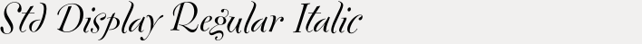 FF Fontesque Std Display Regular Italic