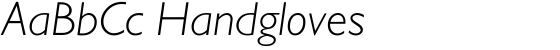 Gill Sans Light Italic (Alt fig 1)