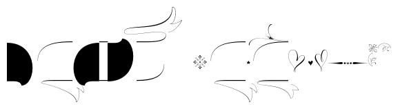 Wishes Script Ornaments Display Regular