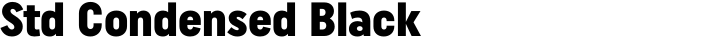 Uniform Std Condensed Black