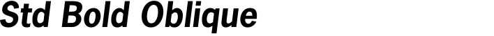 News Gothic Std Bold Oblique