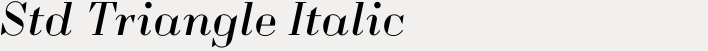 Quair Std Triangle Italic
