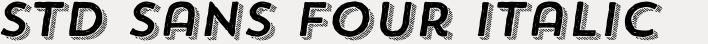 Trend Hand Made Std Sans Four Italic