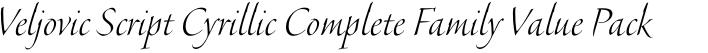 Veljovic Script Cyrillic Complete Family Value Pack