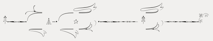 Wishes Script Std Ornaments Text Regular