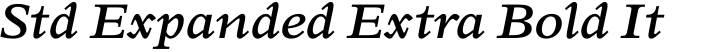 Perrywood Std Expanded Extra Bold Italic