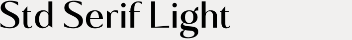 Kalista Std Serif Light