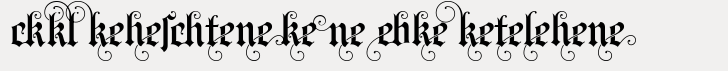 Blackletter Sans Ligatures Regular