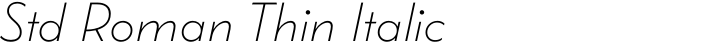 Wright Std Roman Thin Italic