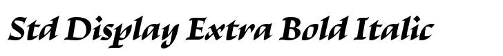 Escritura Std Display Extra Bold Italic