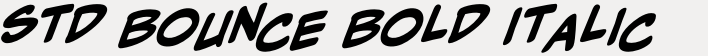 CCMighty Mouth Std Bounce Bold Italic