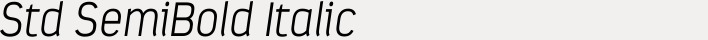 Estandar Std SemiBold Italic