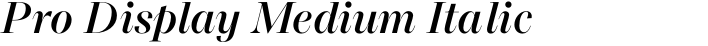 Macklin Pro Display Medium Italic