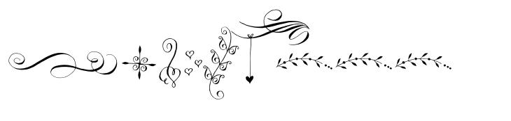 Gratitude Script Ornaments
