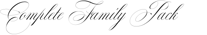 Mozart Script Complete Family Pack