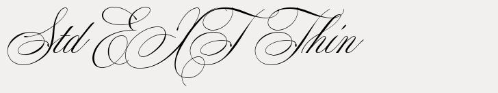 Mozart Script Std EXT Thin