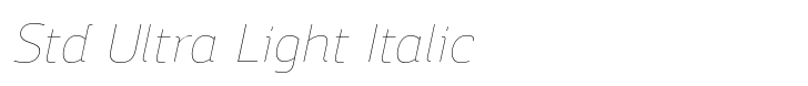 Regan Alt Std Ultra Light Italic