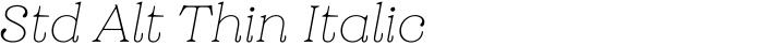 Grobek Std Alt Thin Italic