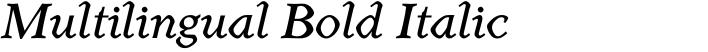 Henman Multilingual Bold Italic