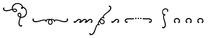 Wink Script Ornaments