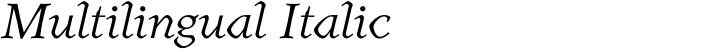 Henman Multilingual Italic