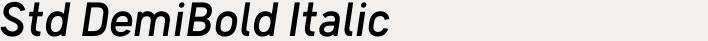 Skyna Std DemiBold Italic