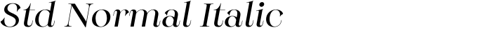 Monckeberg Std Normal Italic